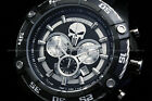 New Invicta Marvel PUNSIHER Bolt Viper 52mm Chronograph Black Limited Ed Watch