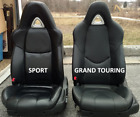 2003-2011 Mazda Rx-8 Replacement Leather Seat Covers Black With Light Grey