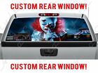 Scary IT Clown Halloween REAR Window Perforated Decal for GMC Dodge Chevy Ford
