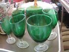 Forest Green set of 6 Early Amer Bubble Ftd 5 1/2