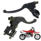 Pair L&R Brake Clutch Lever Perch Motorcycle Black For Honda CR100 CR250 XR250