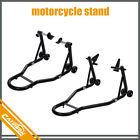 Motorcycle Stand Black Front and Rear Swingarm Spool Wheel Lift Universal Bike