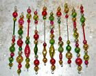 Vintage LONG Mercury Glass Bead Icicle Ornament Christmas Garland Feather Tree