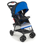 Lightweight Stroller Single Blue Canopy Cupholder Compact Fold Travel Friendly