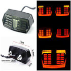 New PC Lens Motorcycle LED Brake Taillight Flowing Waterproof Turn Signal Light
