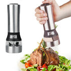 Electric Salt Pepper Grinder Automatic Adjustable Mill Shakers Stainless Steel