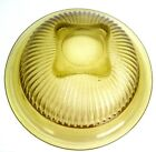 Vintage FEDERAL GLASS 1940's Amber Ribbed 9 1/2