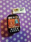 One Piece Ruffy Luffy × Ace Can Case Box + little Note Book Chain Anime Manga