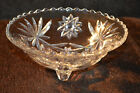 Vintage 3 Leg Star Design Clear Cut Candy/Snack Bowl/Dish**Free Shipping**