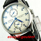 43mm PARNIS silver dial power reserve ST2542 automatic movement mens watch 117