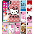 Cute Hello Kitty Flowers Anime Pattern Phone Case Cover For iPhone X XR XS MAX