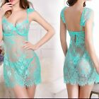 Deep V Nightdress Nightwear Nightgown With G-string Sleepwear Dress Babydoll