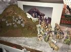 Creative Ceramics Christmas Nativity Set Figures Vintage Lighted