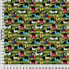 SPORTS PETS DOGS CATS STRIPED 100 COTTON FABRIC BY THE 1 2 YARD