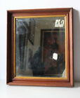 Vintage Antique Wood Wall Mirror Architectural Heavy
