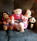 Lot Of Stuffed Animals Plush Build a Bear BOYDS monkey Raggedy Ann DanDee panda