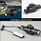 Tactical 420LM CREE LED Flashligt & Green Laser Sight fit 20mm Picatinny Rail