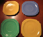 Lot 7 Vintage 1940s Homer Laughlin Riviera: 3 dinner plates, 4 saucers