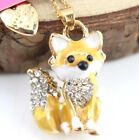 Penddant Betsey Johnson Enamel Fox FashionGolden Chain Rhinestone Necklaces