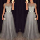 US Women Formal Wedding Bridesmaid Sleeveless Long Evening Party Ball Prom Dress