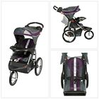 Jogging Stroller Jogger Baby Toddler Reclining Padded Seat Gray Purple