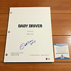 EDGAR WRIGHT SIGNED BABY DRIVER FULL PAGE MOVIE SCRIPT w BECKETT BAS COA