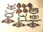 c 1910 Antique Brass Furniture Dresser Drawer Pulls parts