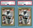 LOT 2 1990 Action Packed #39 Cortez Kennedy Rookie Update PSA 8 NM-MT