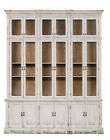 Antique Style Distressed White Cabinet~Apothecary Glass Front Doors,85''X107''H
