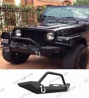 87 06 Jeep Wrangler TJ YJ Rock Crawler Guard Front Bumper Winch D Ring Textured