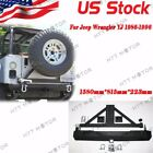 For 87 06 Jeep Wrangler YJ TJ Rock Crawler Rear Bumper Tire Carrier Swing
