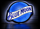 New Blue Moon LED Beer Bar Cave Neon Light Sign 17