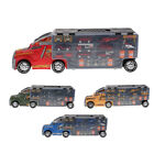 1 12 Scale Diecast Alloy Lorry Container Truck W Small Car Roadsign for Kids