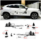 2pcs Interesting Hunt Forest Reindeer Pattern Vinyl Sticker for Car Body Decor