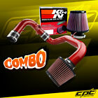 04-06 Mitsubishi Lancer RalliArt MT Red Cold Air Intake + K&N Air Filter