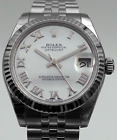 Rolex Oyster Perpetual Lady Datejust 31 18K WG & S/S Factory MOP Dial B&P