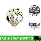 Pandra Charms Charms Story Heart I Love You Clear Simulated Birthstone Gift NEW