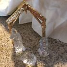 Gorham Nativity Set Mint In Box Glass And Brass Untouched Macys Labels