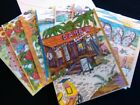 SUMMER themed BLANK NOTE CARDS Set of 8