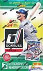 2018 Donruss Baseball Factory Sealed HUGE 24 Pack HOBBY Box with 192 Cards THR