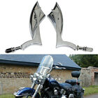 Chrome Big Blade Motorcycle Side Mirror For Harley Heritage Softail Classic Slim
