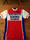 Vintage 1970s Wool Road Cycling Jersey Medium Eroica flocking 4 campagnolo