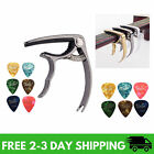 Guitar Picks Capo Acoustic Accessories Trigger Key Clamp Black With Free 6 Pcs
