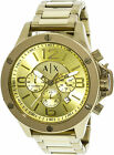 Armani Exchange Men's AX1504 Gold Stainless-Steel Plated Japanese Quartz Dres...