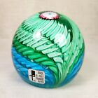 Vintage Fratelli Toso Murano Art Glass Paperweight Italy with Original FT Label