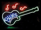 Blues Music Guitar Beer Pub Bar Neon Sign 20x16 From USA