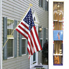 American Flag Pole Kit 6ft Gold Wall Mount Flag Pole Kit Eagle no Flag