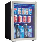 Free-Standing Beverage Cooler Center 95-Can Capacity LED Lighting 2.6 cu. ft.