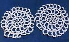 Antique Primitive Pinwheel Round Doilies for Gone with the Wind Lamps Size 13