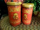 PR CALUMET Baking Tin Canister Container Primitive Vintage Country Farmhouse New